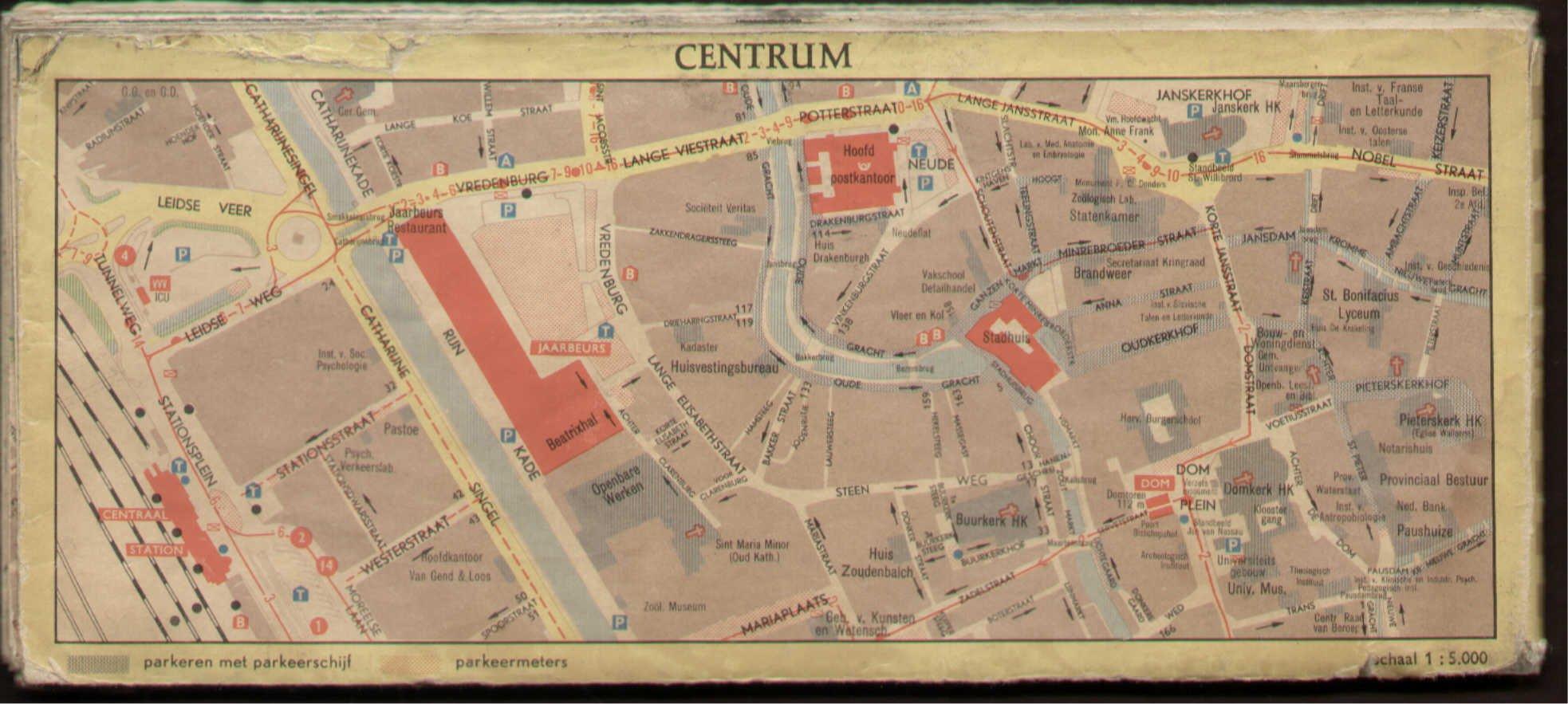kaart centrum utrecht